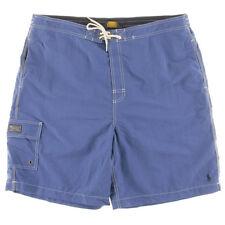 NEW Mens Ralph Lauren Quick Dry Blue Pony Beach Swim Surf Board Shorts Sz XL