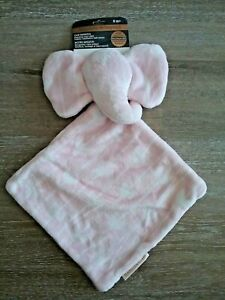 Blankets & Beyond Baby Girl Security Blanket Layette PInk & White Elephant Arrow