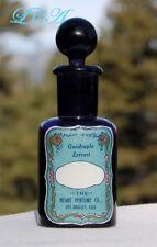 BEAUTIFUL antique DARK PURPLE Heart Perfume Co LOS ANGELES bottle w/stopper