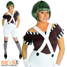Oompa Loompa Ladies Fancy Dress Chocolate Factory Worker Adults Book Day Costume