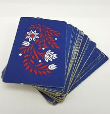 Arrco Playing Cards Distressed Crafts Patriotic Floral USA Red white Blue