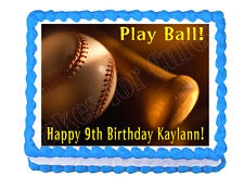 Baseball theme edible cake image cake topper party cake decoration