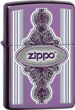 Zippo Vintage Frame Abyss Translucent Powdercoat Lighter 28866