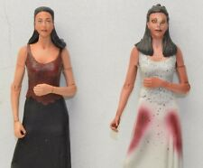 Buffy TVS Angel Drusilla Vampire + Human action figure Moore MAC Set of 2