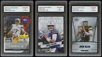 JOSH ALLEN 2018 LEAF EXCLUSIVE/PRIZED/SILVER 1ST GRADED 10 ROOKIE CARD LOT BILLS