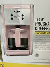 NEW Pink Bella Coffee Maker 12 Cup Programmable