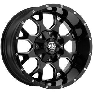 "Mayhem 8015 Warrior 20x10 8x6.5""/8x170 -25mm Black/Milled Wheel Rim 20"" Inch"