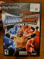 WWE SmackDown vs Raw 2007 (PlayStation 2 PS2) RARE Wrestling, Complete w/ Manual