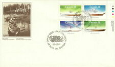 CANADA 1989 FIRST DAY COVER, # 1229/32 BLOCK OF 4 SMALL CRAFT NATIVE BOATS !!!