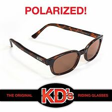 KD's Polarized Amber Sunglasses Original Motorcycle Riding Glasses KD Tortoise