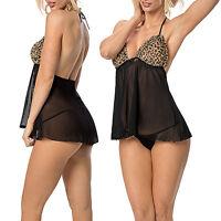 Sexy Lingerie Sleepwear Women's G-string Dress Underwear Babydoll Nightwear SK