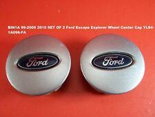 BIN1A 99-2009 2010 SET OF 2 Ford Escape Explorer Wheel Center Cap YL84-1A096-FA
