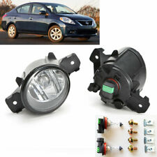 For 2012-2016 Nissan Versa Clear Lens Front Fog Driving Light Kit with Bulbs