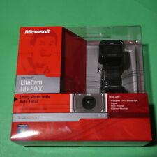 (10) Microsoft LifeCam HD-5000 720p HD Webcam Camera - Black NEW SEALED BOX