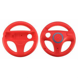 Steering Wheel Mario Kart Racing Wheel for Nintendo Wii Remote Controller - Red