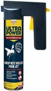 Zero In Ultra Power Wasp Nest Killer Foam Jet Indoor or Outdoor 300ml - 600ml