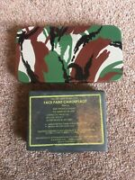 Military Camouflage Face Paint 3 Colours Green Army & Survival Advertising Tin