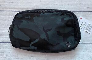 NWT LULULEMON Everywhere Belt Bag O/S JCOB Jacquard Camo Cotton Obsidian Black