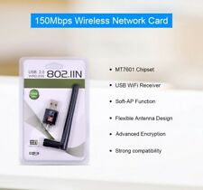 USB Wifi Router 150Mbps Wireless Adapter Dongle LAN Card Antenna For PC Laptop