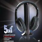 5 in 1 Wireless Headphone Earphone Headset for MP3 PC TV FM iPod---No Batterie !