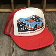STP Nascar Racing Team Vintage 80's Trucker Hat Richard Petty #43 Cap Red