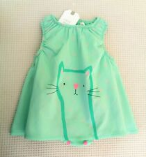BNWT NEXT Baby Girls Pink Cat Kitty Cotton Dress Intergrated Bodysuit 3-6 months