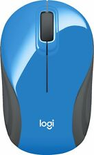 Logitech - M187 Wireless Optical Mouse Nano Receiver - Blue