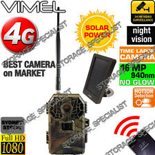 4G Trail Camera Solar Panel Home Security Hunting Wireless IR