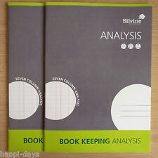 NEW - 2 x A4 BOOK KEEPING ANALYSIS - Accounts Office Home Cash Ledger Books x 2