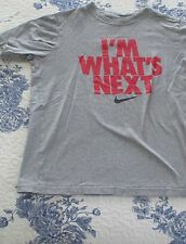 "NIKE ""I'M WHAT'S NEXT"" BOYS MEDIUM SHORT SLEEVE T-SHIRT. PREOWNED (6348)."