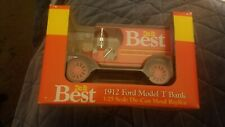 1912 Ford Model T Bank Do it Best Die-cast NIB never removed from box 1:25 scale
