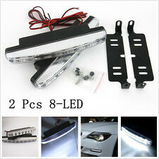 2 x 8-LED White Car Truck Daytime Running Light Fog Driving Lamp bulb For Holden