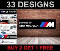 Powered By BMW Motorsport Nero Garage Officina PVC Adesivo