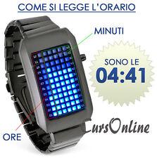 Orologio Da Polso Digitale Bracciale a Led Uomo Donna Bambino Unisex 72 LED