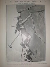 How Not to Do Things When Visiting Switzerland Charles Crombie 1906 old print
