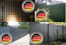 Sichtschutz und Windschutz grün für Zaun aus Doppelstabmatte inkl. Klemmleisten