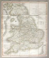 Cary's map of England & Wales w/ part of Scotland — Picquet — 78 x 65 cm. — 1816