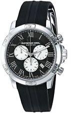 Raymond Weil Tango 300 Men's Black Silver Quartz Chronograph Watch 8560-SR-00206