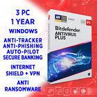 Bitdefender Antivirus Plus 2021 3 PC 1 year, FULL EDITION, ACTIVATION KEY + VPN