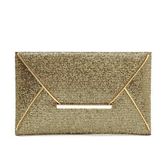 Fashion Womens Sequins Envelope Bag Evening Party Purse Clutch Handbag Bags Gold