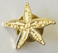 Sea Star Starfish Gold Style Brooch Pin Badge Rare Vintage (L46)