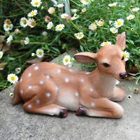 Laying Roe Deer Garden Animal Ornament Outdoor Statue