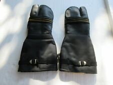 Vintage Leather Snowmobile Motorcycle Gloves Mittens