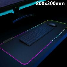 Große RGB Bunte LED Beleuchtung Gaming Matte Spiele Mouse Pad für Laptop 80X30CM