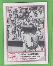 1983 Jogo HOF CFL RON LANCASTER SASKATCEWAN ROUGHRIDERS