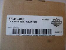 2003-2007 Harley Davidson Electra Glide Silver Trim Tachometer 67348-04D OEM New