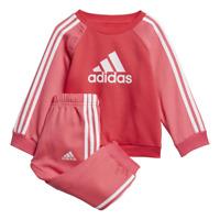 Adidas Girls Sports Set Logo Tracksuit Jogger Training Athletic Baby ED1178 New