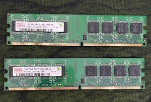 Hynix 2GB (2x1) 2Rx8 PC2-5300 DIMM DDR2 Memory (HYMP512U64CP8Y5AB)