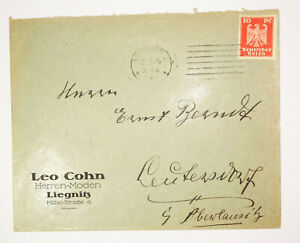 Werbe Brief Leo Cohn Herren-Moden Liegnitz 1925 ! (B1