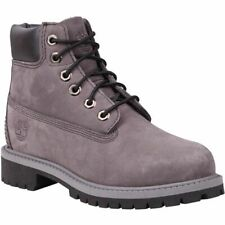 New Timberland Youth 6-Inch Premium Waterproof Boots (9570R)  Grey Nubuck